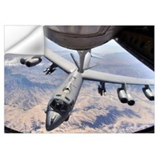 A B52 Stratofortress receives fuel from a KC135 St Wall Decal